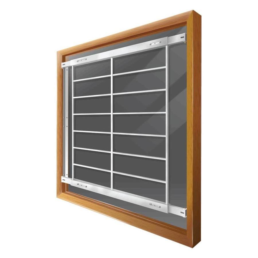 Mr. Goodbar F 74-in White Fixed Window Security Bar