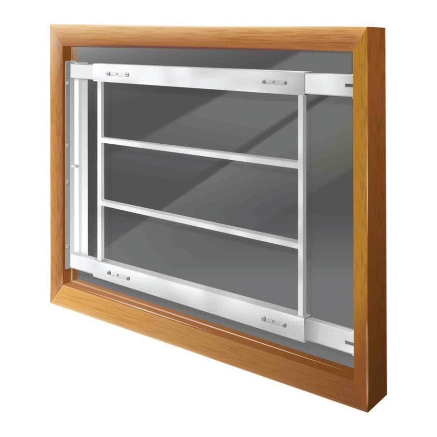 Mr. Goodbar D 21-in x 21-in White Swing-Away Window Security Bar