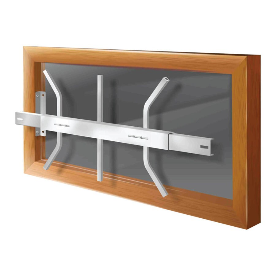 Mr. Goodbar B 28-in White Removable Window Security Bar