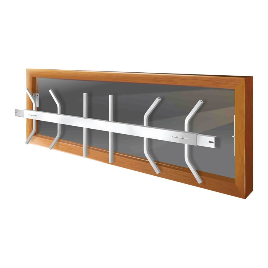 Mr. Goodbar B 54-in White Removable Window Security Bar