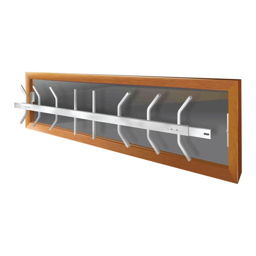 Mr. Goodbar B 64-in White Removable Window Security Bar
