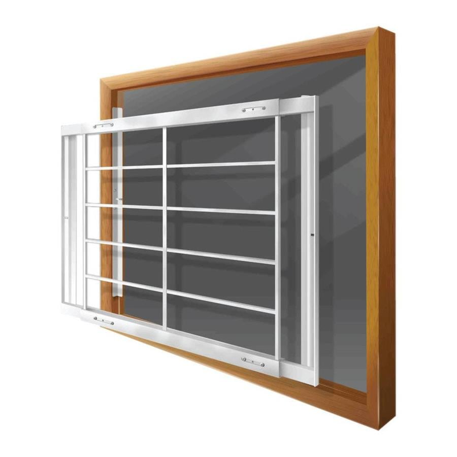 Home Depot Burglar Bars : Shop mr goodbar e in white removable window security