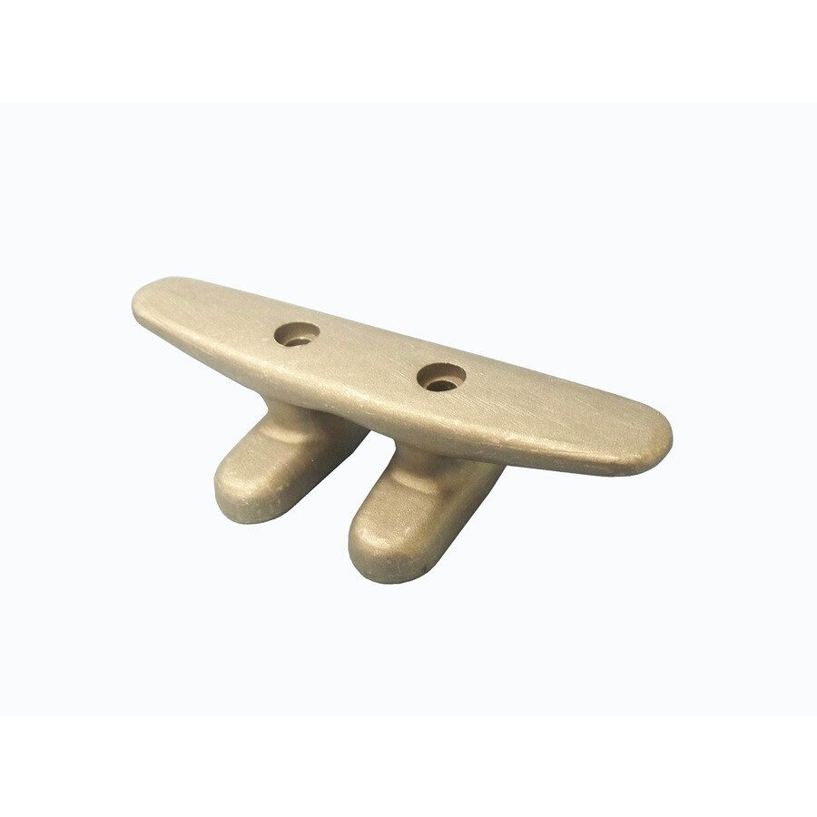Dock Edge + 6-in Open Base Aluminum Dock Cleat