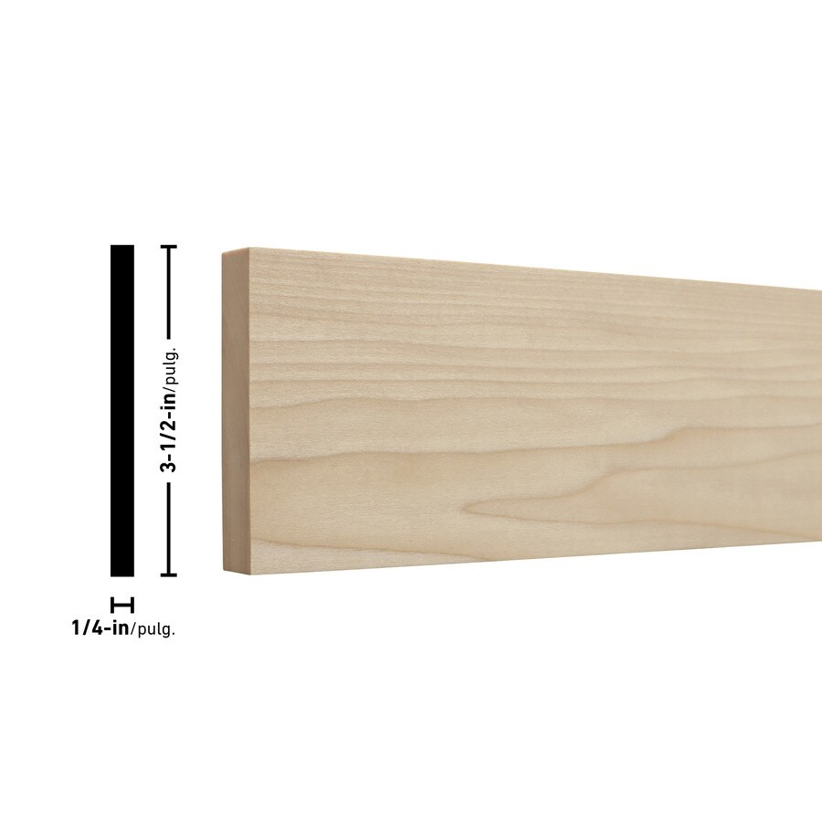 Poplar Board (Common: 1/4-in x 4-in x 2-ft; Actual: 0.25-in x 3.5-in x 2-ft)