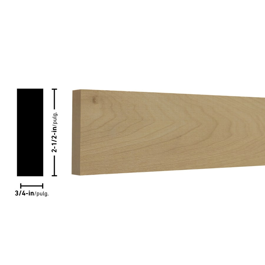 Poplar Board (Common: 3/4-in x 3-in x 4-ft; Actual: 0.75-in x 2.5-in x 4-ft)