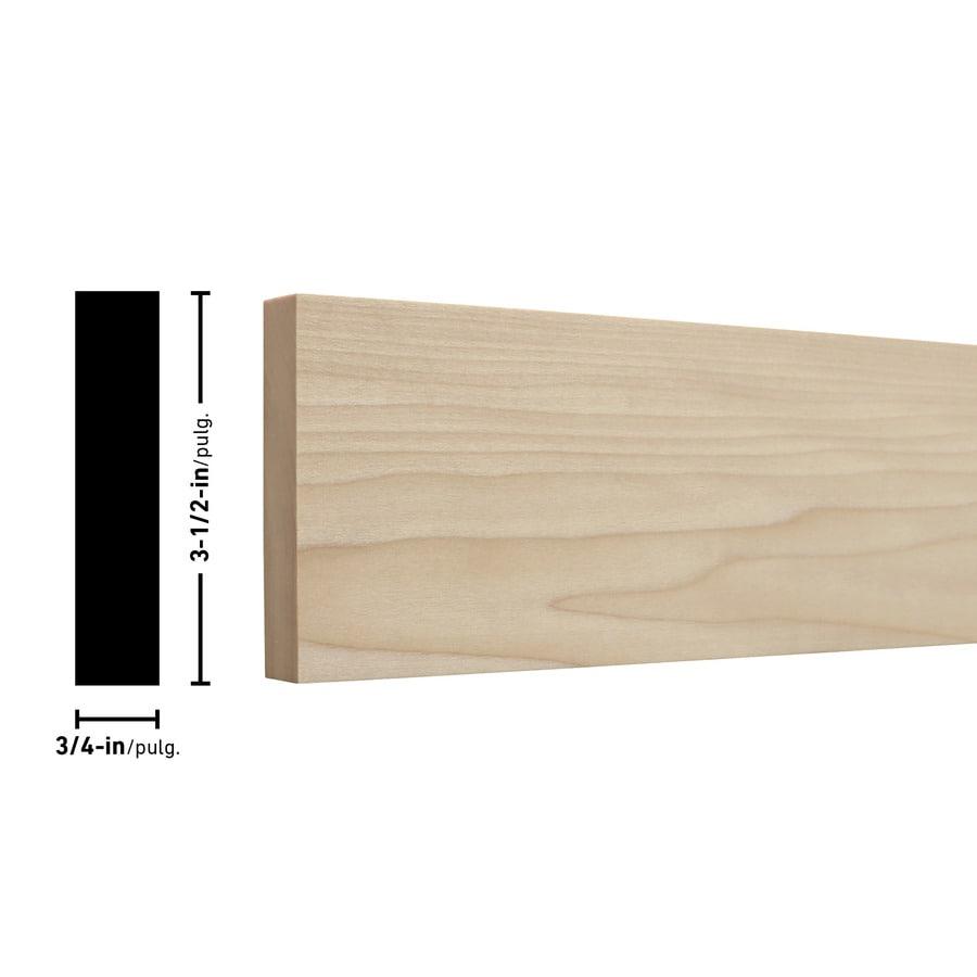 Poplar Board (Common: 3/4-in x 4-in x 2-ft; Actual: 0.75-in x 3.5-in x 2-ft)