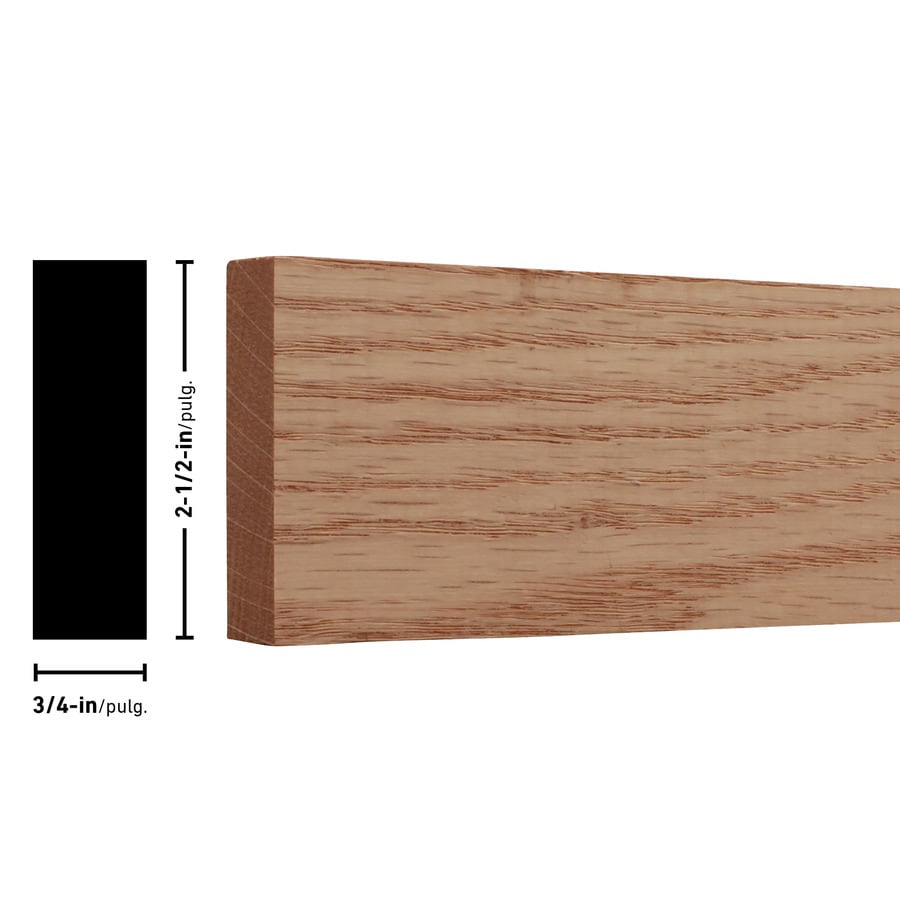 Red Oak Board (Common: 1-in x 3-in x 2-ft; Actual: 0.75-in x 2.5-in x 2-ft)