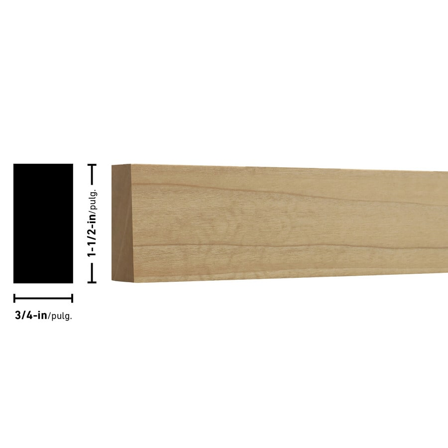 Poplar Board (Common: 3/4-in x 2-in x 10-ft; Actual: 0.75-in x 1.5-in x 10-ft)