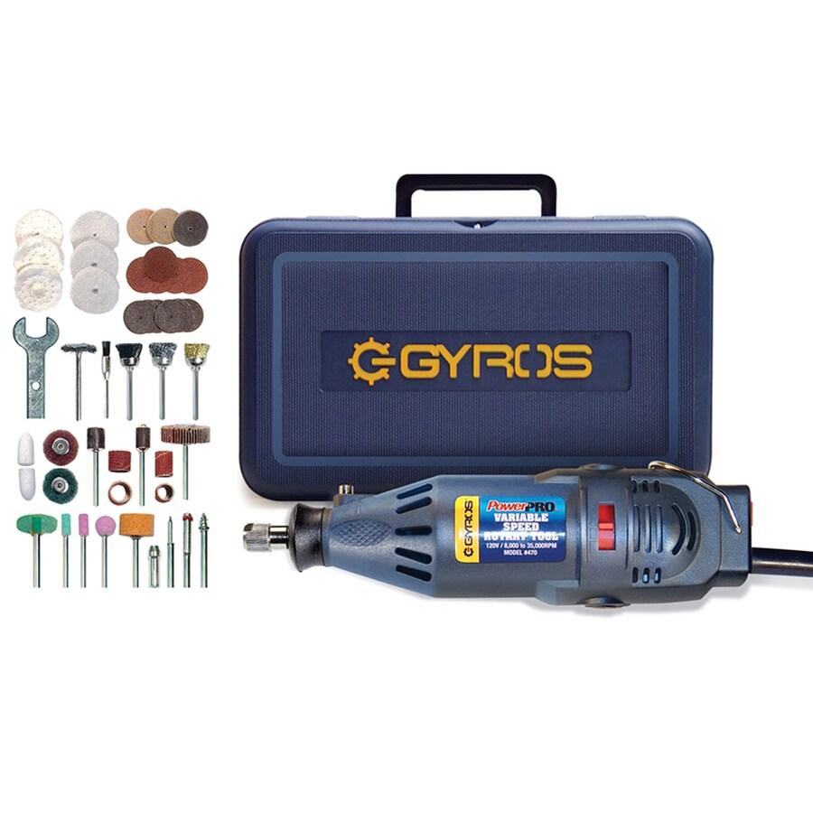 Gyros PowerPro 50-Piece Variable Speed Multipurpose Rotary Tool Kit with Hard Case