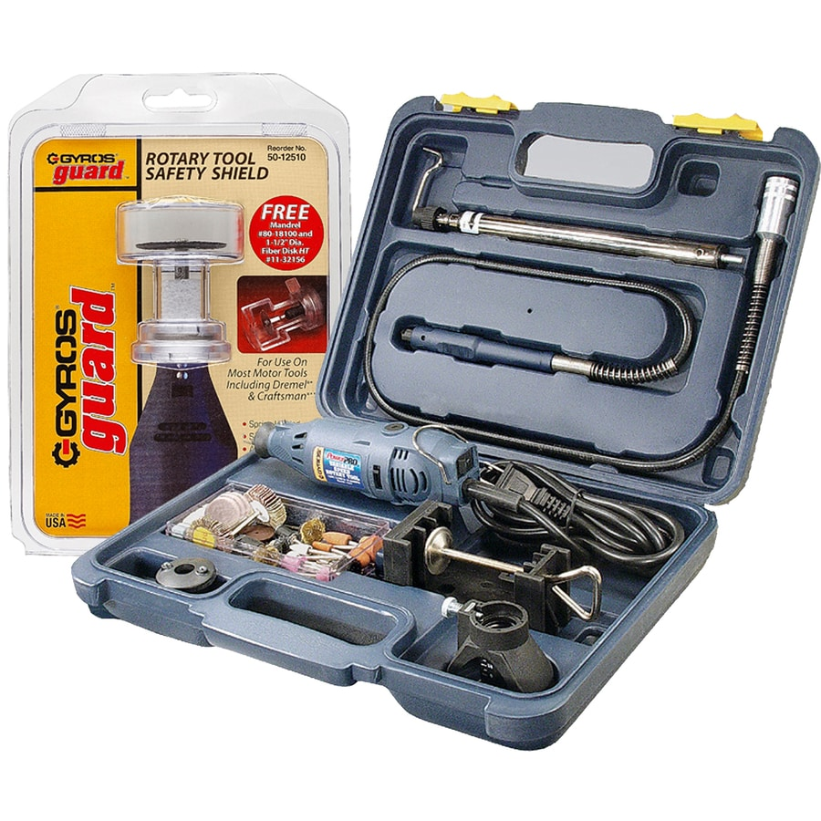 Gyros PowerPro 85-Piece Variable Speed Multipurpose Rotary Tool Kit with Hard Case
