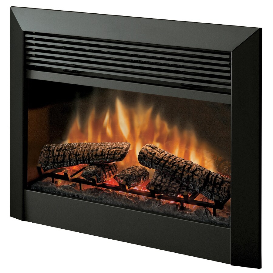 Dimplex 32-in W 5,115-BTU Black Metal Electric Fireplace with Thermostat and Remote Control