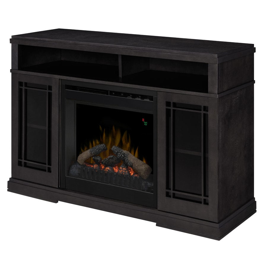 Shop Dimplex 46 5 In W 4 777 Btu Raven Wood And Metal Fan Forced Electric Fireplace With