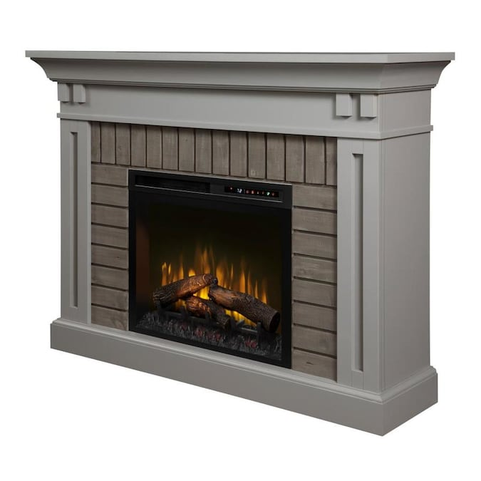 Dimplex 58-in W Stone Grey Fan-Forced Electric Fireplace ...