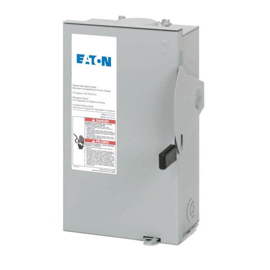 Eaton 30-Amp Fusible Metallic Safety Switch