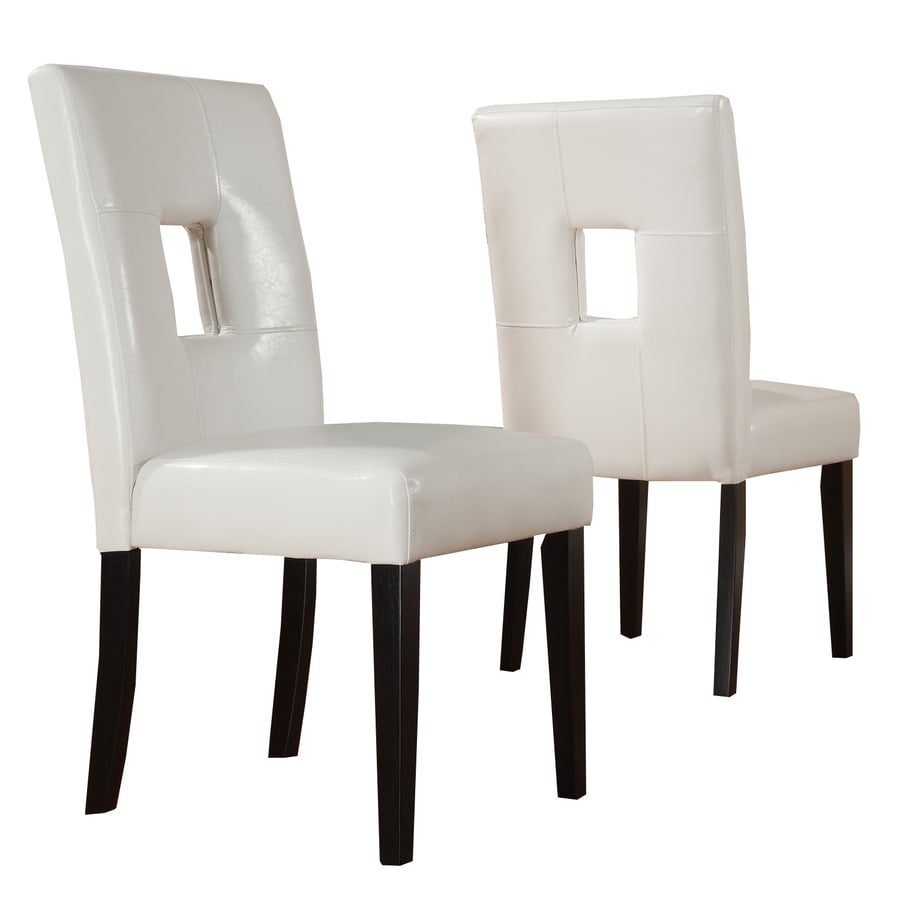 Home Sonata Set of 2 White Side Chairs