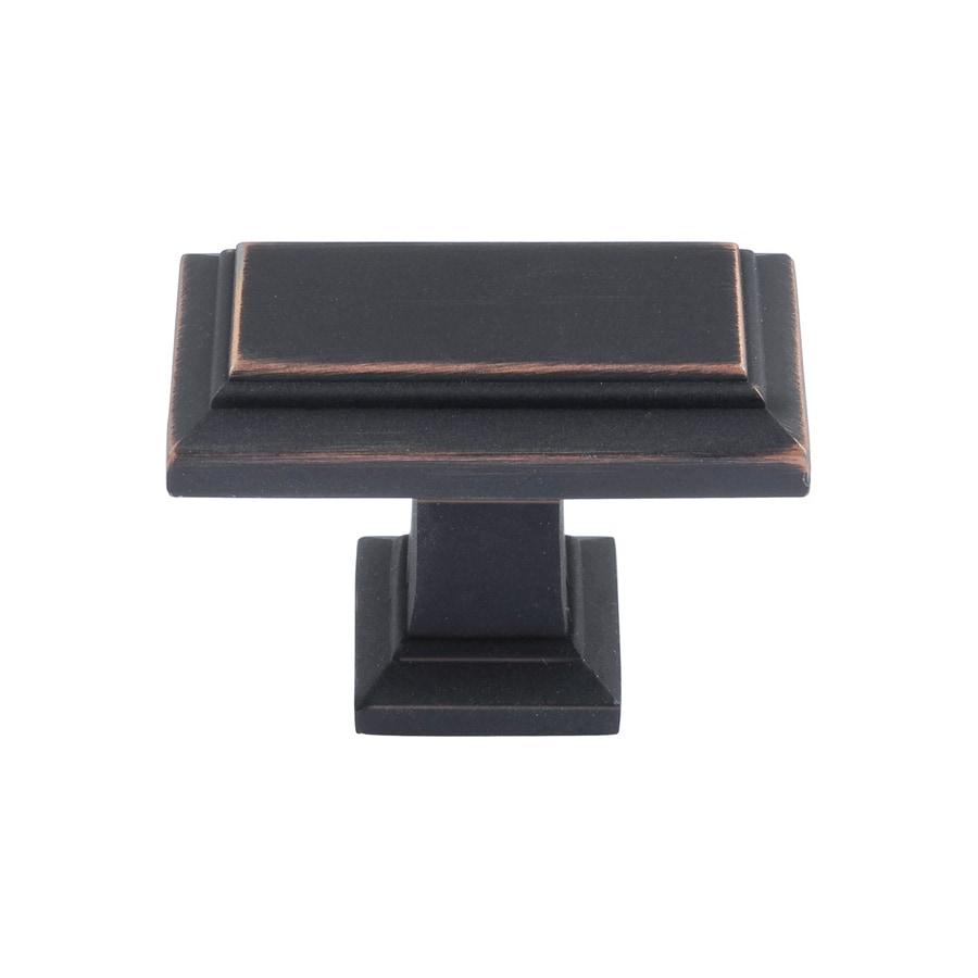 Lola & Company 1-3/8-in Venetian Bronze Sutton Place Rectangular Cabinet Knob