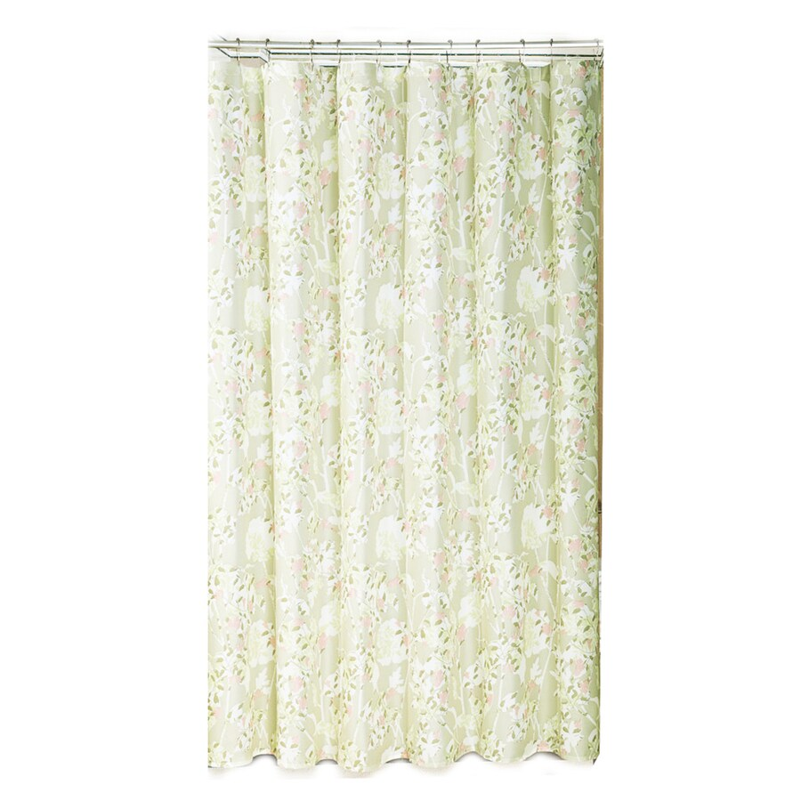 METRO LUXE Polyester Light Multi Floral Shower Curtain