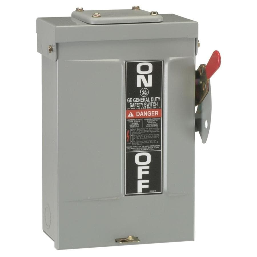 GE 30-Amp Non-Fusible Metallic Safety Switch