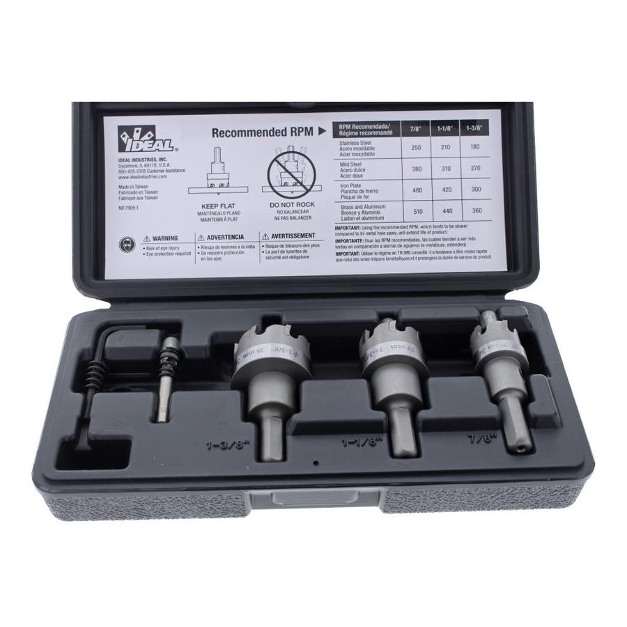 IDEAL Carbide-Tipped Hole Saw Kit