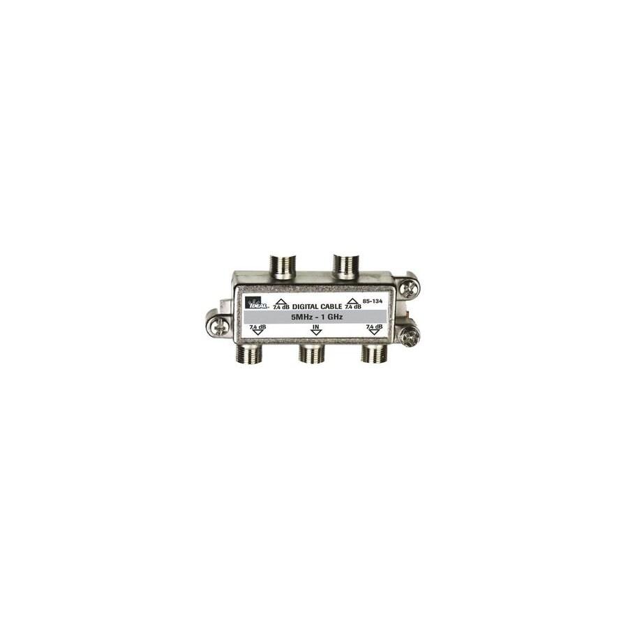 IDEAL Nickel 4-Way Coax Video Cable Splitter