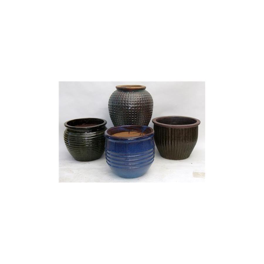 20-in x 12-in Ceramic Planter