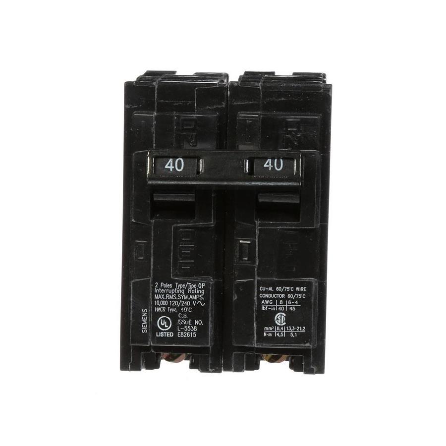 Siemens QP 40-Amp 2-Pole Circuit Breaker