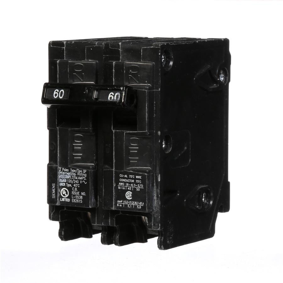 Siemens QP 60-Amp 2-Pole Double-Pole Circuit Breaker