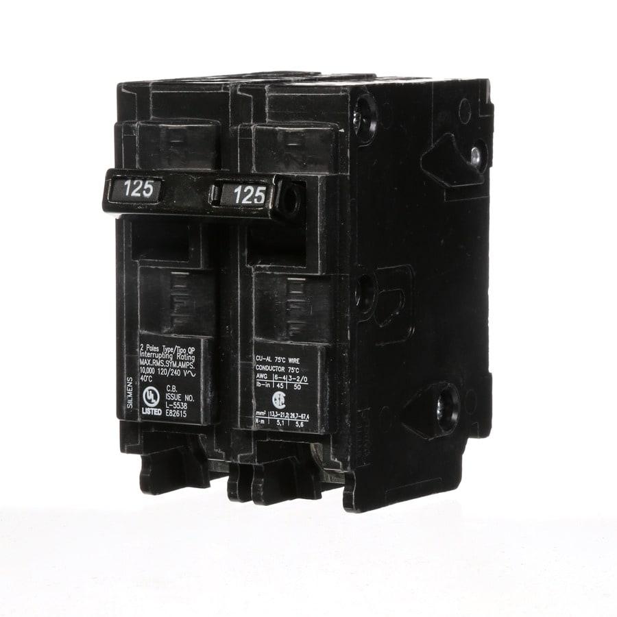 Siemens QP 125-Amp 2-Pole Circuit Breaker