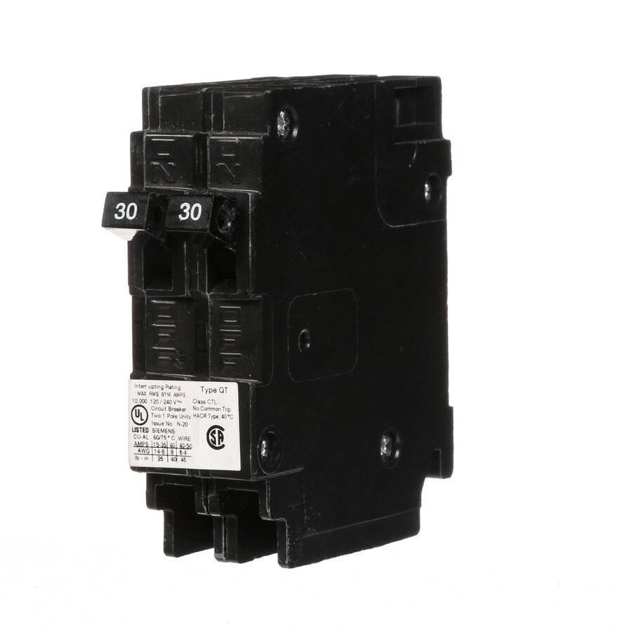 Siemens QT 30-Amp 1-Pole Tandem Circuit Breaker