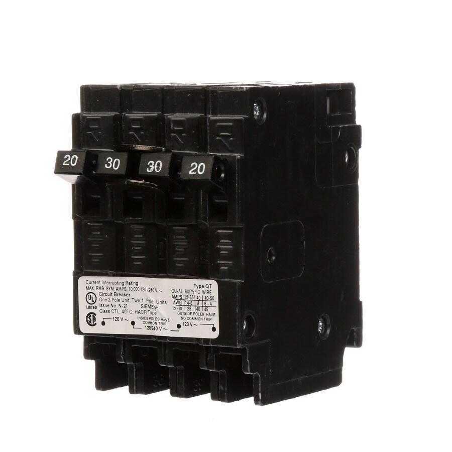 Siemens QP 30-Amp 2-Pole Quad Circuit Breaker