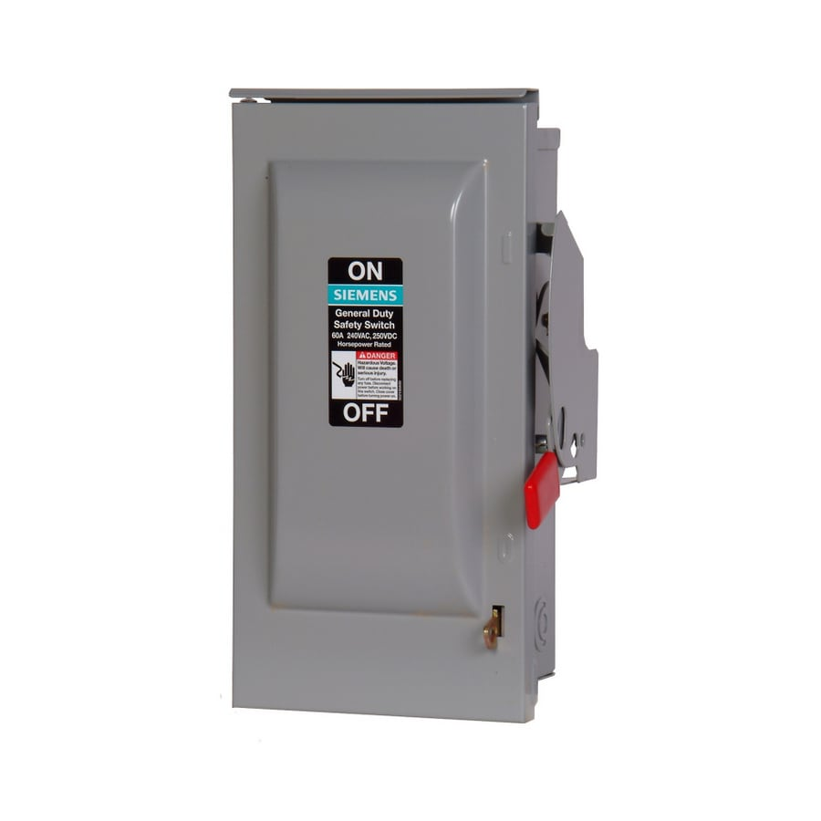 Siemens 60-Amp Non-Fusible Metallic Safety Switch