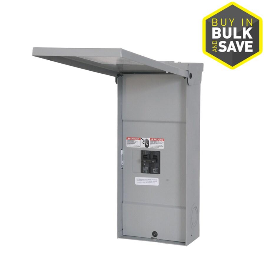 Siemens 2-Circuit 2-Space 100-Amp Main Breaker Load Center