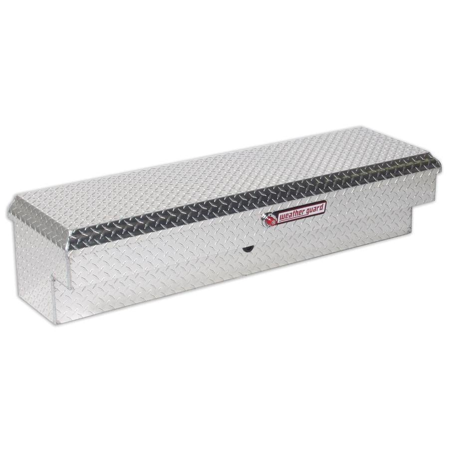 WEATHER GUARD 56.25-in x 16.25-in x 13.25-in Silver Aluminum Universal Truck Tool Box