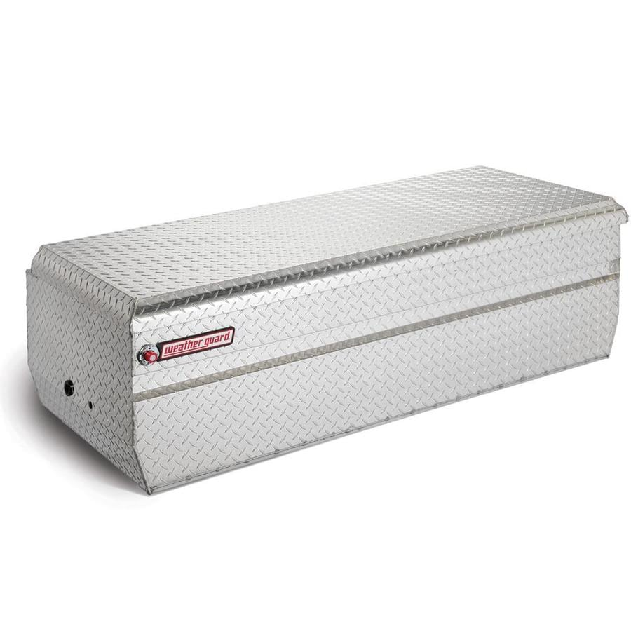 WEATHER GUARD 62-in x 27.5-in x 19.25-in Silver Aluminum Universal Truck Tool Box