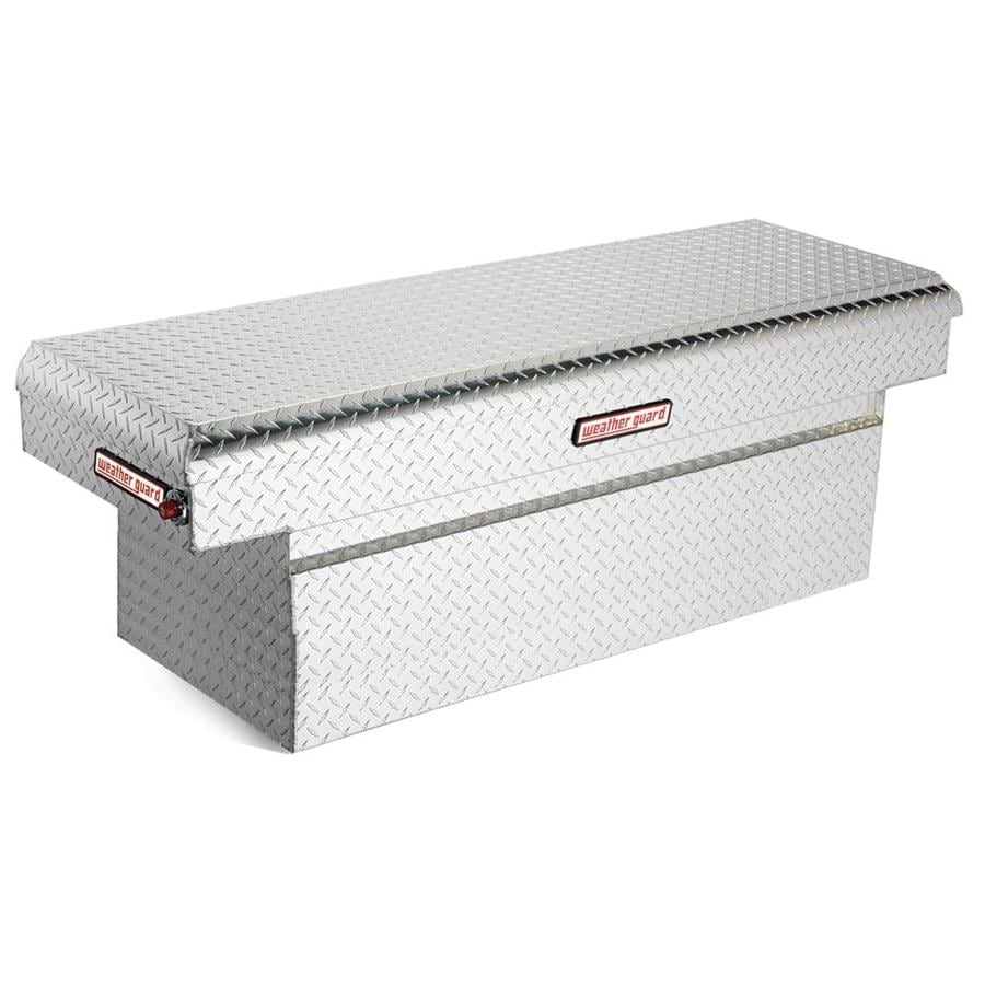 WEATHER GUARD 71.5-in x 20.25-in x 24-in Silver Aluminum Full-Size Truck Tool Box