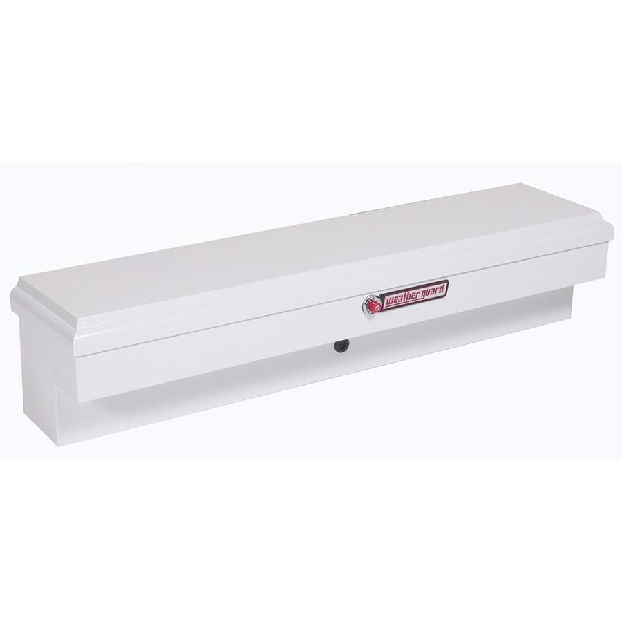 WEATHER GUARD 60.375-in x 13.625-in x 12.875-in White Steel Universal Truck Tool Box