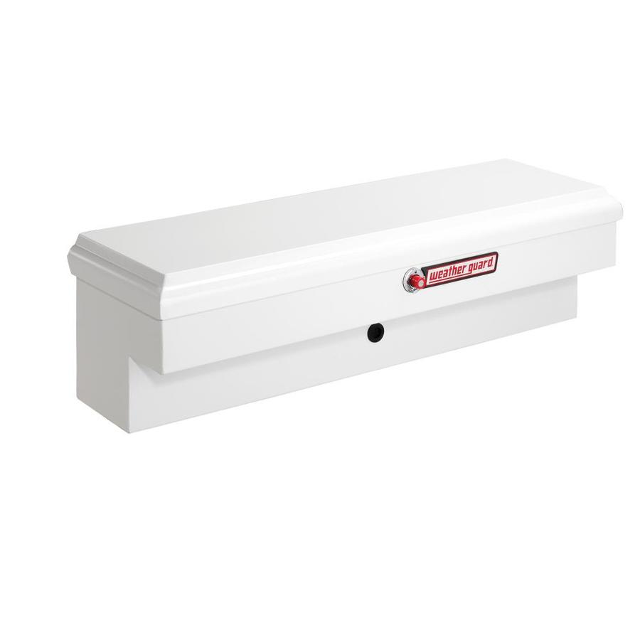 WEATHER GUARD 46.25-in x 13.5-in x 13-in White Steel Universal Truck Tool Box