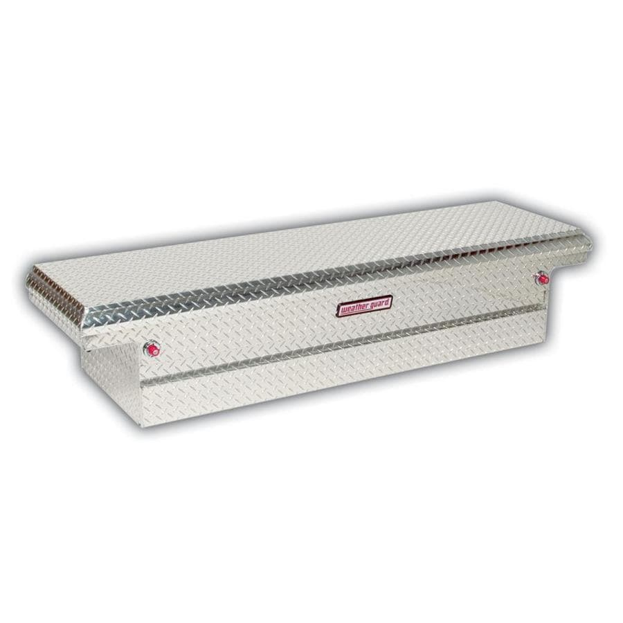 WEATHER GUARD 71.5-in x 20.25-in x 15-in Silver Aluminum Full-Size Truck Tool Box