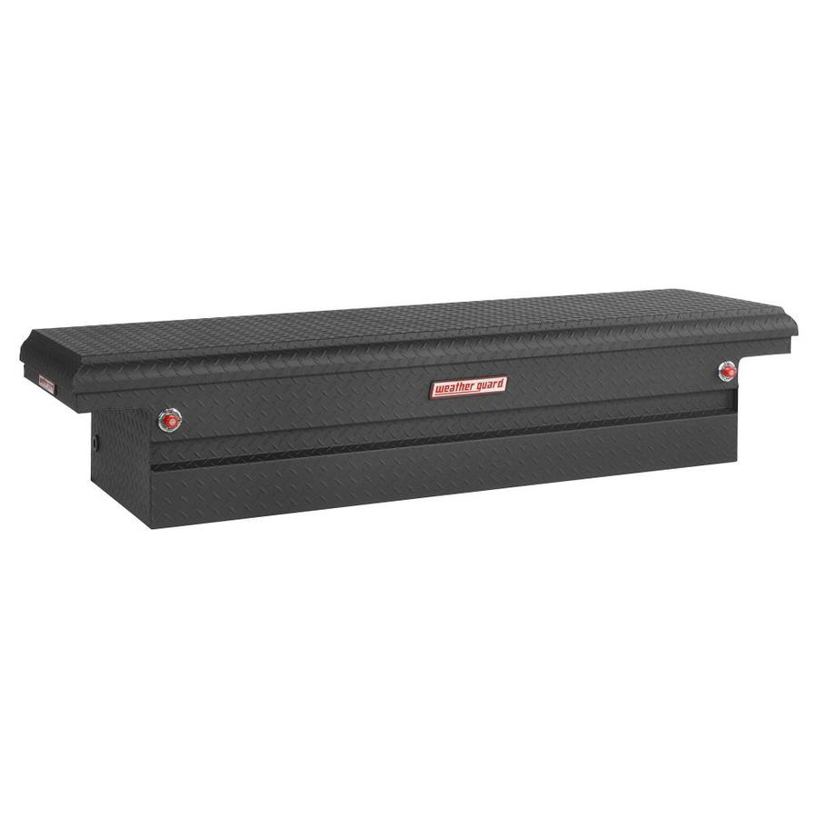 WEATHER GUARD 71.5-in x 20.25-in x 15-in Black Aluminum Full-Size Truck Tool Box