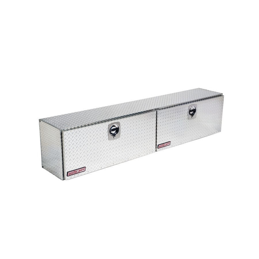 WEATHER GUARD 90.25-in x 16.25-in x 18-in Silver Aluminum Universal Truck Tool Box