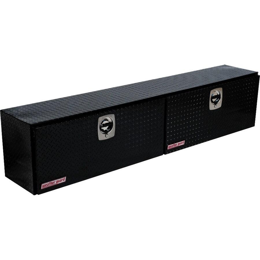 WEATHER GUARD 90.25-in x 16.25-in x 18-in Black Aluminum Universal Truck Tool Box