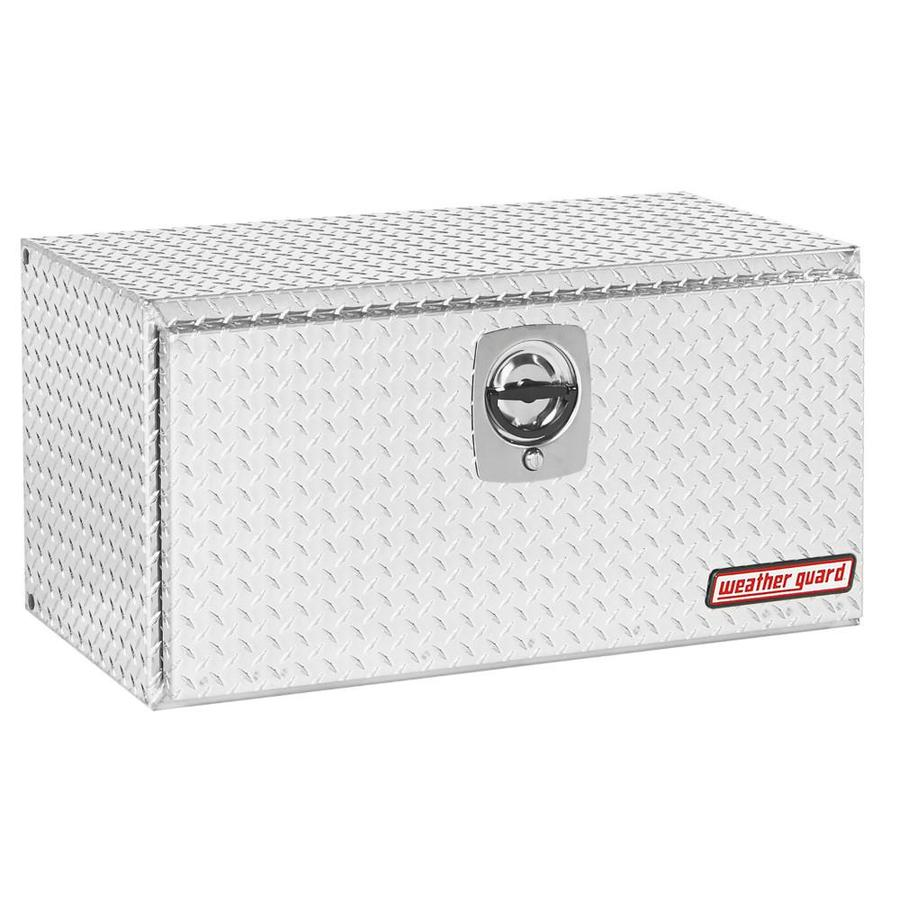 WEATHER GUARD 36.625-in x 18-in x 18-in Silver Aluminum Universal Truck Tool Box