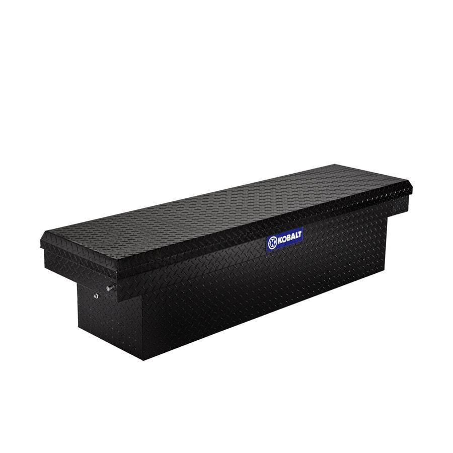 Kobalt 71.4-in x 19.6-in x 17.4-in Black Aluminum Full-Size Truck Tool Box
