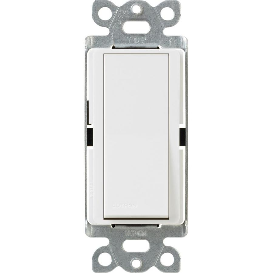 Lutron Claro Single Pole White Light Switch