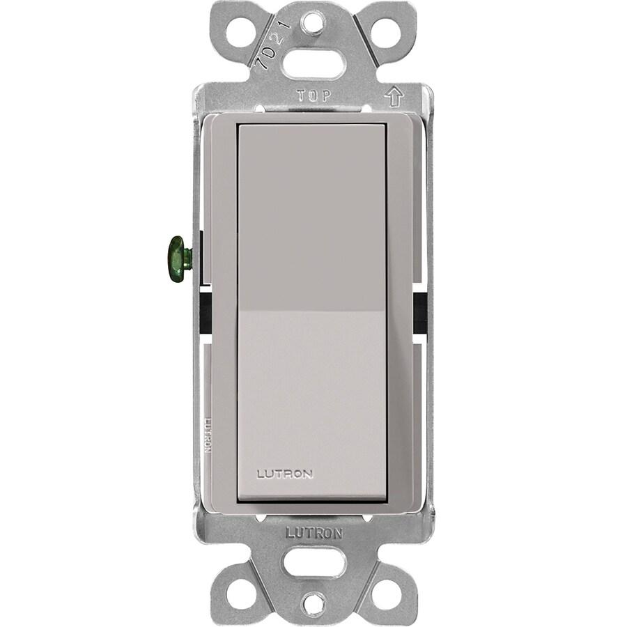 Lutron Claro 3-Way Single Pole Gray Light Switch