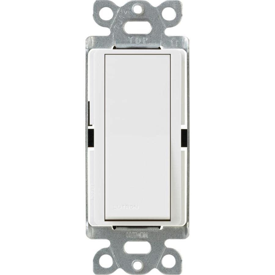 Lutron Claro 3-Way Single Pole White Light Switch