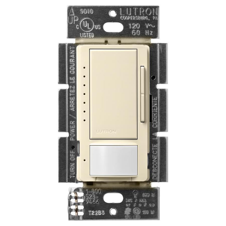 Lutron Maestro 150-Watt 3-Way 4-Way Double Pole Almond Indoor Motion Occupancy Sensor