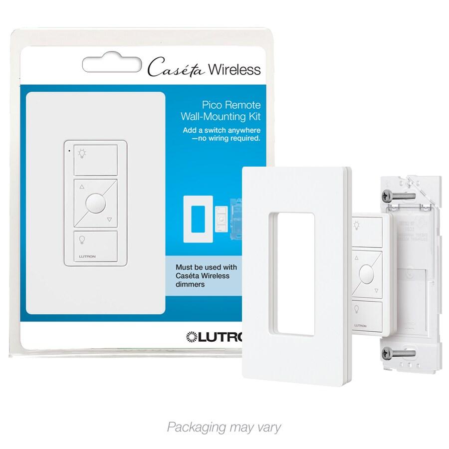 Lutron Caseta 3-Way 4-Way Double Pole Wireless White Indoor Remote Control Light Switch