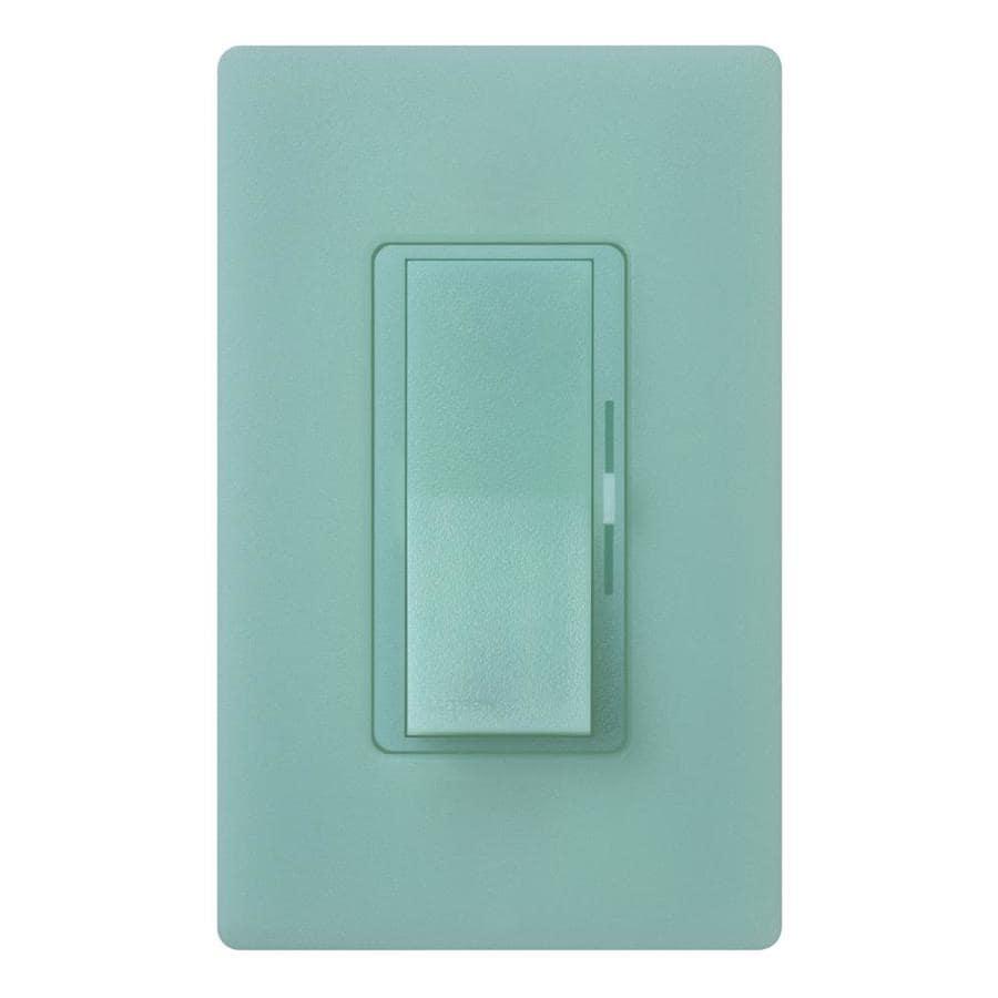 Lutron Diva 240-Watt 3-Way Double Pole Sea Glass Indoor Slide Dimmer