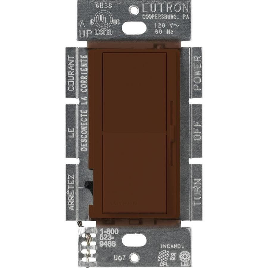 Lutron Diva 240-Watt 3-Way Double Pole Sienna Indoor Slide Dimmer